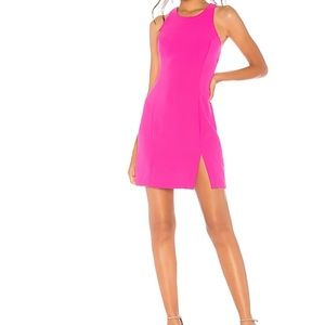 Amanda Uprichard Hot Pink Racerback Colada Dress